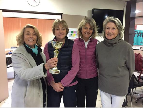 L'équipe + 55 ans Dames a elle aussi réussi à atteindre la finale, en butant sur le double décisif. Un grand bravo à Thérèse la capitaine, Brigitte, Christine, Paule, Hortense, et aux deux Isabelle !