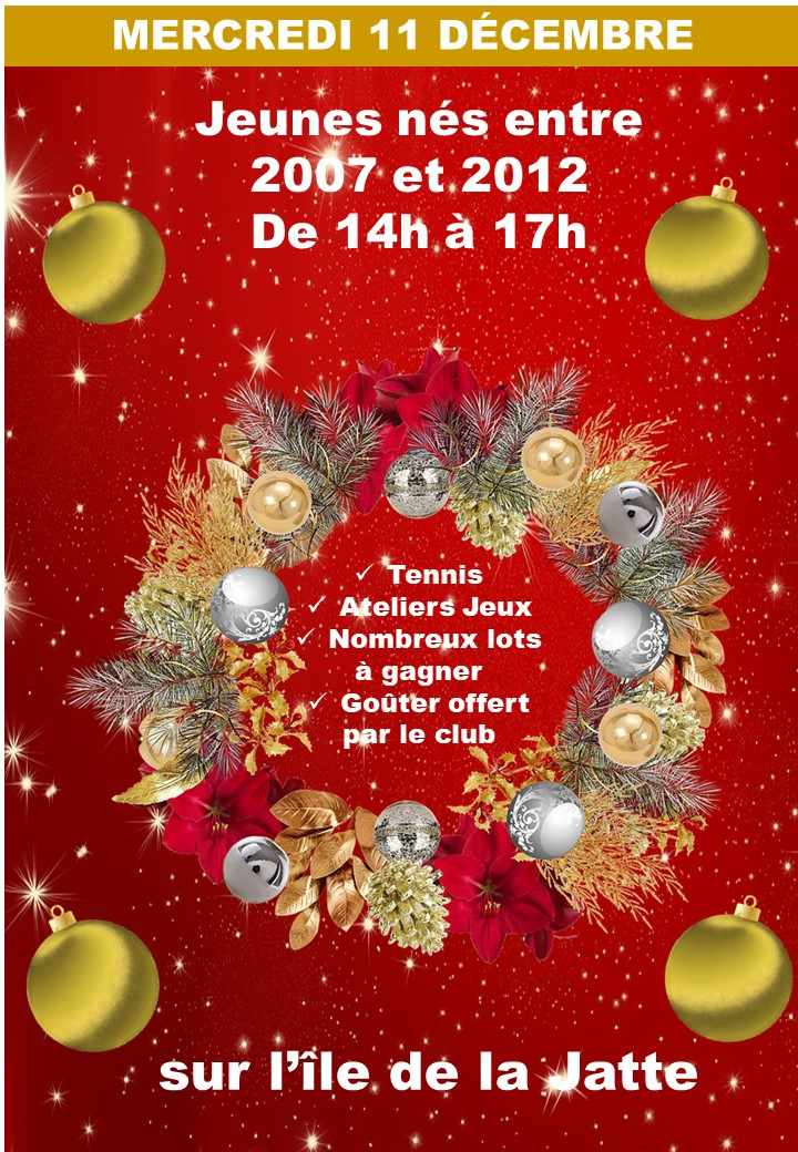 Fête de Noël  le 11 décembre 2019 pour les jeunes nés entre 2007 et 2012
