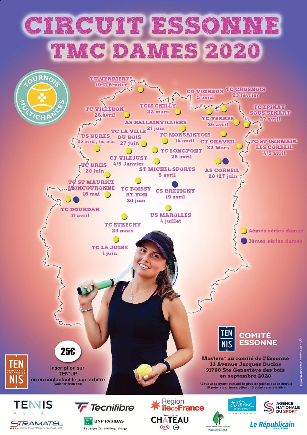 Calendrier Tmc Tennis 2022 TMC Femmes   Comité Essonne Tennis