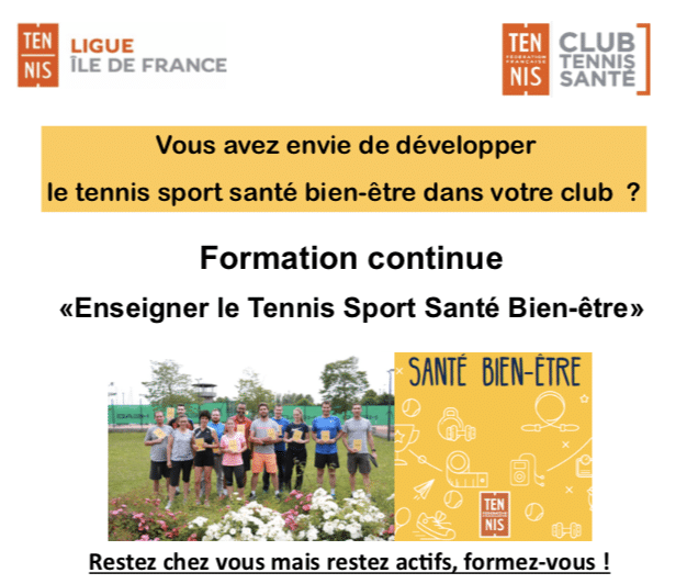 Formation Tennis Santé